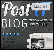 PostIt DNN blog module